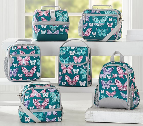 Mackenzie Teal Pretty Erfly Lunch Bags From Pottery Barn Kids 15 23
